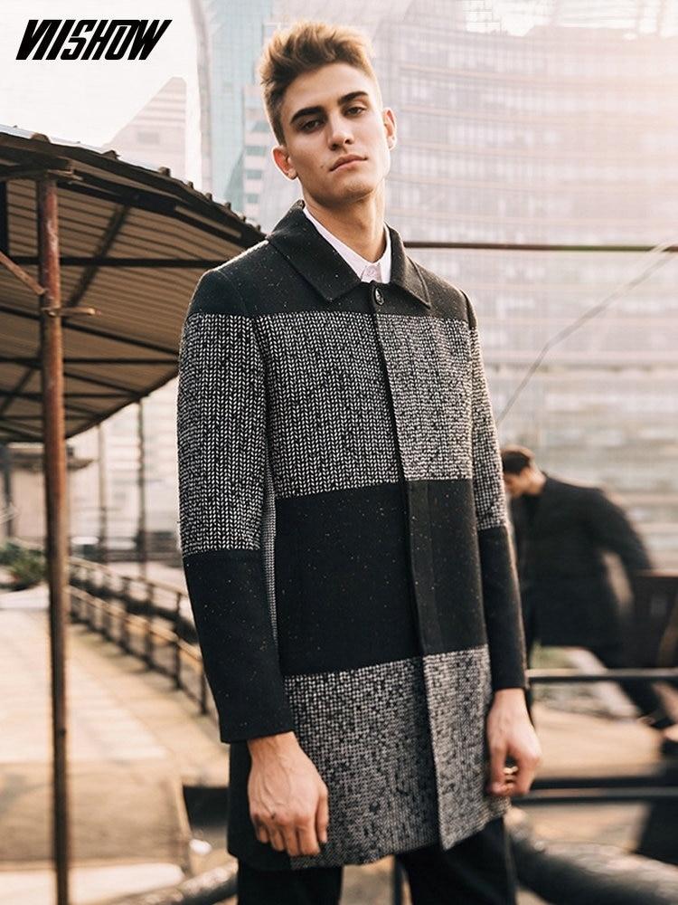 VIISHOW Férfi Parkas Márka téli árok kabát férfi alkalmi - Férfi ruházat