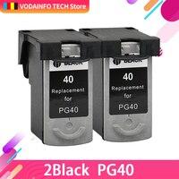 2PCS black for PG 40 PG40 PG 40 Ink Cartridge For Canon PIXMA IP2500 IP2600 MX300 MX310 MP160 MP140 MP150 Printer