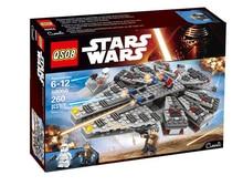 2016 Nuevas Llegadas LEPIN Star Wars Halcón Milenario de Bloques de Construcción Ladrillos Establece StarWars Figuras Compatible Legoe
