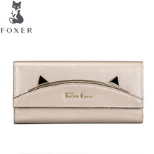 free delivery Women bag Split Leather wallet Long section of simple and lovely coin purse Envelope Packag