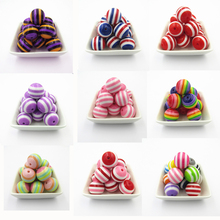 Wholesale !  20mm 100pcs/bag Resin Striped Chunky Beads For Chunky  Kids Necklace/Fashion DIY Hand Made