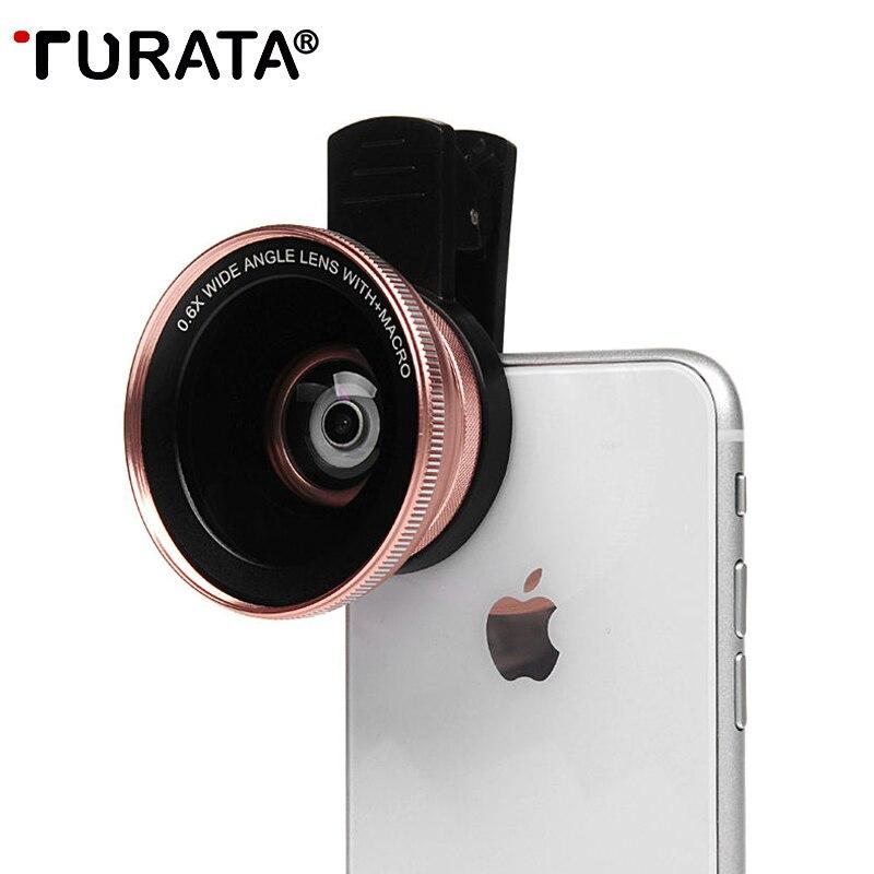 TURATA Camera Lens Kit 0.6X Wide Angle Macro Universal HD