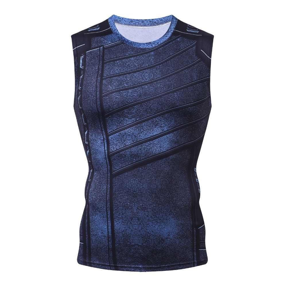 قميص تنكري جديد للشتاء بدون أكمام بتصميم ثلاثي الأبعاد للرجال ملابس لياقة بدنية غير رسمية صدرية لكمال الأجسام لعام 2018 أزياء بدون أكمام للرجال