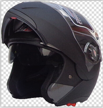 Free shipping new dual lens exposing BLD 158 motorcycle helmet full helmet visor lens wear and / Matte Black