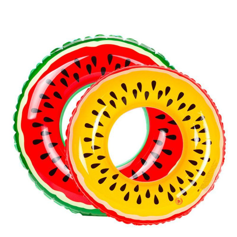 2018 Novelty Watermelon Inflatable Adult Kids Swimming Ring Pool Float Circle for Adult Children
