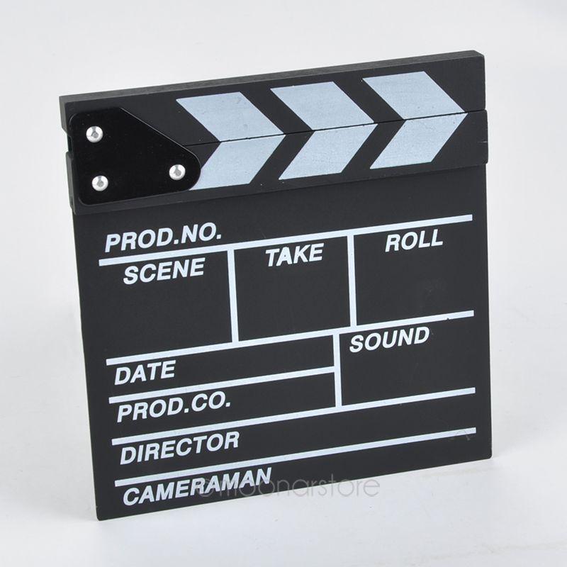 Image 3 - New hot Arrivel Cute Classical Director Video Clapper Board Scene Clapperboard TV Movie  Film Cut Prop zx*DA1144#c3-in Photo Studio Accessories from Consumer Electronics