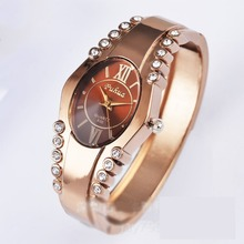 016 new watches simple fashion lady rose gold bracelet watch Korean version of the trend of