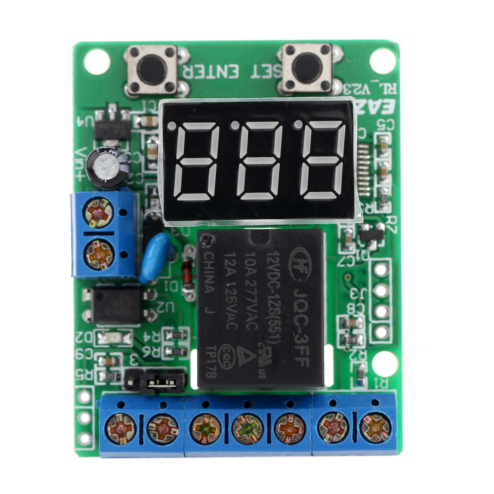 DC 12V Relay Module Voltage Detection Charging Discharge Monitor