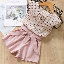 HTB1arCZelWD3KVjSZKPq6yp7FXaO Menoea Girls Suits 2020 Summer Style Kids Beautiful Floral Flower Sleeve Children O-neck Clothing Shorts Suit 2Pcs Clothes