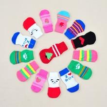 Милые модные домашние животные Носки для собак 4 шт. милые носки для щенков и собак Нескользящие нескользящие носки оптом#15
