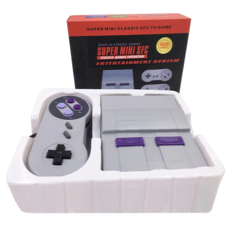 Newest Family Video Games Handheld Console Retro Super Classic Game Mini 8 Bit Gaming Player with 2x Gamepads Gift for Kids