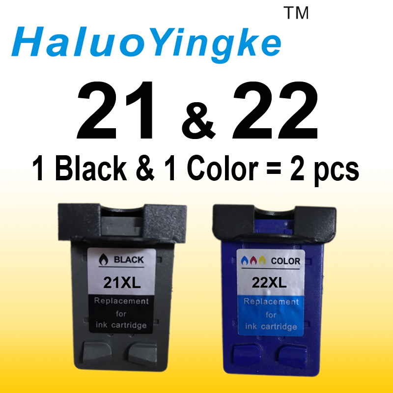 2Pcs XL Ink Cartridge replacement for hp 21 22 cartridges 21 and 22 for Deskjet 3915 3920 D1320 D1455 F2100 F2280 F4180 printer free shipping for hp 21xl 22xl ink cartridge c9351an c9352an for hp deskjet 3915 3920 3930v d1530 d1320 d1311 d1455 printer