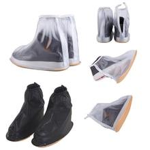 THINKTHENDO 1 Paire Imperméable Chaussures De Pluie Couvrent Réutilisable Bottes Plat Couvre-chaussures Couvre Antidérapante