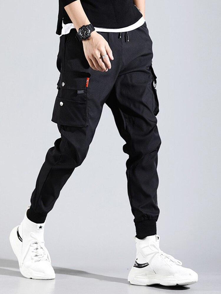 GRMO Men Casual Sweatpants Baggy Sport Cargo Jogger Pants Trousers
