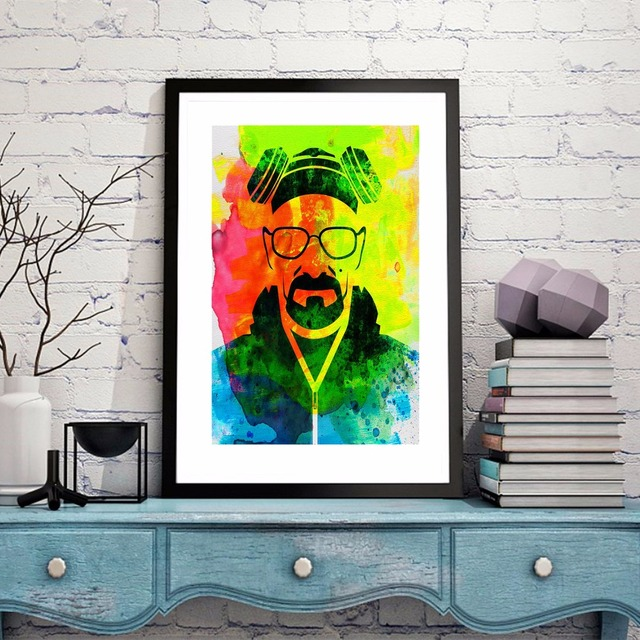 Colorful Breaking Bad Vintage Canvas Art Print Painting Poster Wall ...