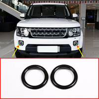 For Land Rover Discovery 4 LR4 2014 2016 Car Accessories ABS Black Glossy Front Fog Lamp Frame Cover Trim