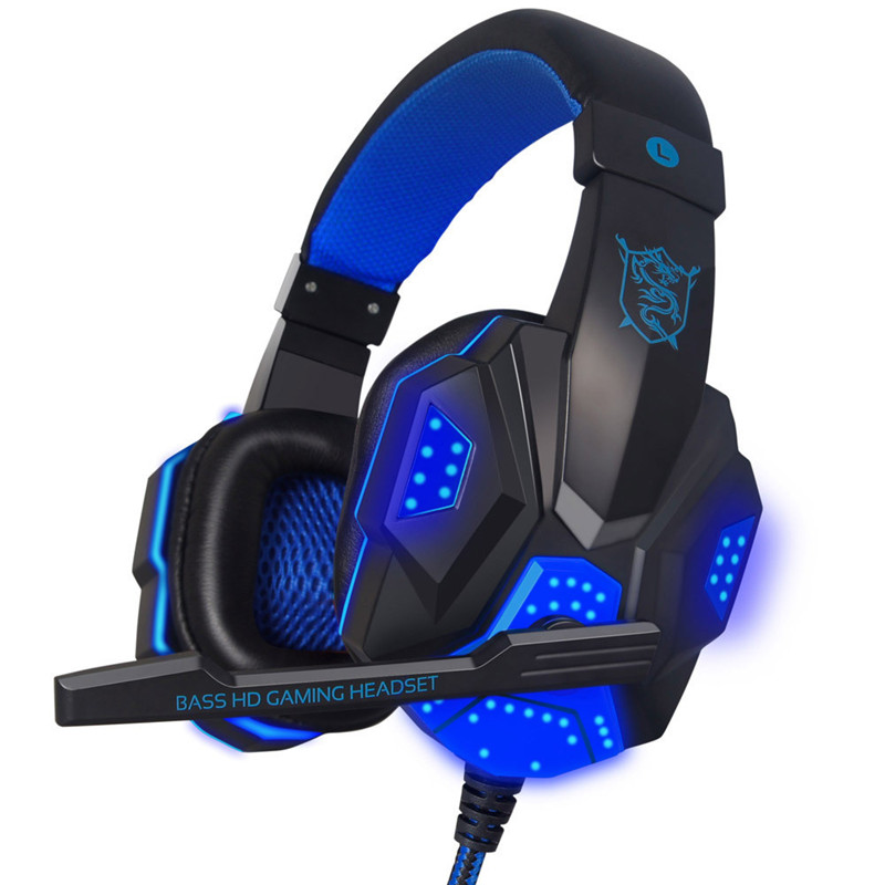 HIPERDEAL Popular Surround Stereo Gaming Headphone Headset Headband USB 3.5mm LED with Mic for PC Gaming Headphones Set13
