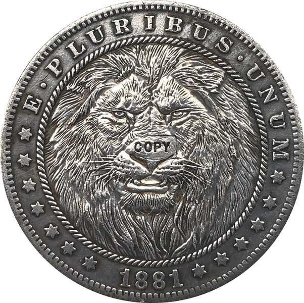 Hobo Nikkel 1881-CC VS Morgan Dollar MUNT COPY Type 117
