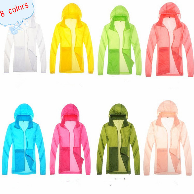 US $11.88 64% OFF|Quick Drying skin Windbreaker 2015 Sun Protection Clothing men &women Ultra thin Waterproof Breathable uv protection shirt in Hiking