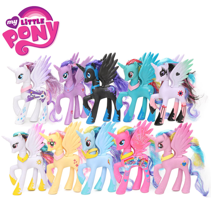 15styles 14cm My Little Pony Toys Princess Celestia Luna Pinkie Pie Rainbow Dash PVC Action Figures Twilight Unicorn Model Dolls