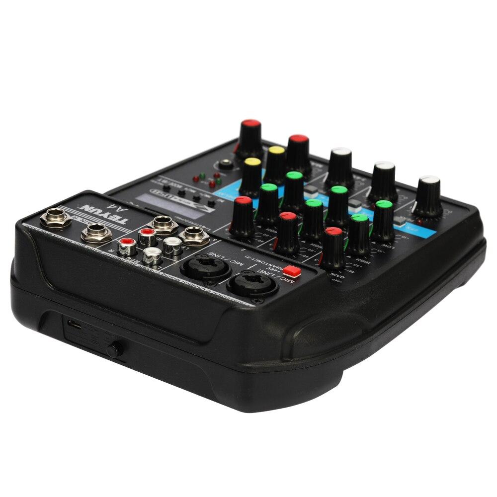 Mini Tragbare TU04 BT Sound Mischpult mit USB für DJ ausrüstung. 48V Power Monitor AUX Wege plus 4 Kanäle Audio-Mixer