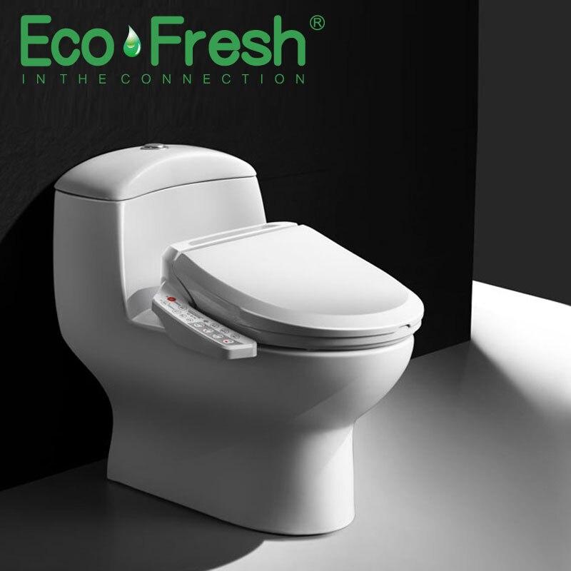 EcoFresh Inteligente assento do vaso sanitário tampa inteligente bidé Washlet Bidé Elétrica calor mulher Massagem cuidado limpo e seco para a criança o velho