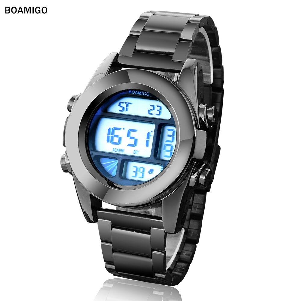 boamigo fashion casual business digital watches