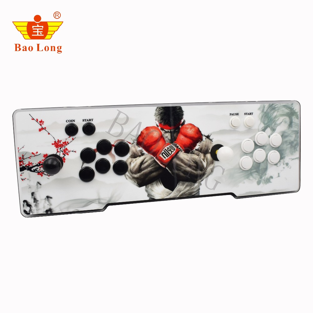 Box 6S 1388 in 1 console usb arcade joystick with colorful button zero delay kit games joysticks For pandora box wireless pandora s box arcade joystick controle pandoras box 4s plus 815 in 1 arcade game console arcade controller zero delay