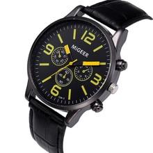 2017 Luxury Fashion Men Watches Quartz  Retro Design Leather Band Analog Alloy Quartz Wrist Watch