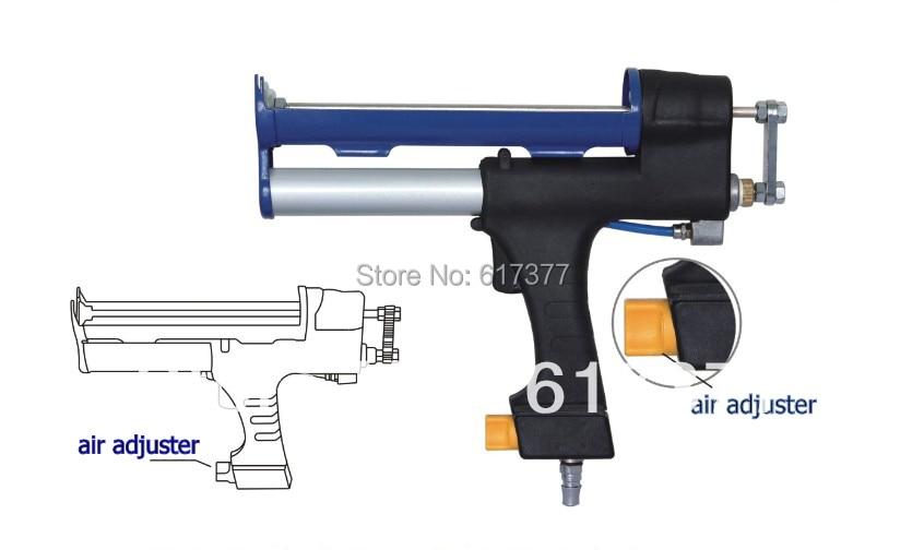 Pistola pneumatica per sigillante al silicone con cartuccia da 310 ml - Strumenti di costruzione - Fotografia 2