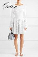 белый Бандажное Платье вискозное