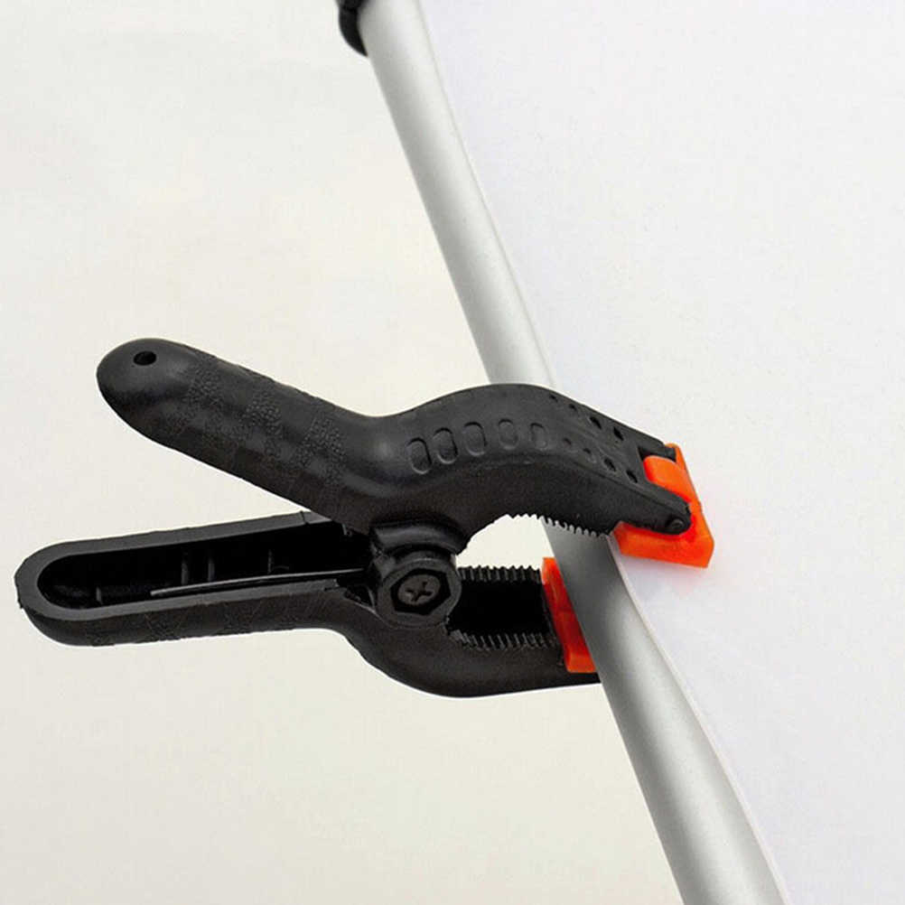 10 Uds. Abrazaderas de resorte de 2 pulgadas herramientas de carpintería DIY pinzas de nailon de plástico para pinza de muelle para carpintería fondo de estudio de fotografía