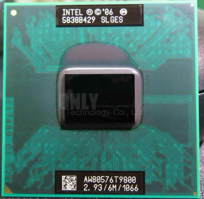 SPEDIZIONE GRATUITA Intel Core 2 Duo T9800 2.93GHz 6MB 1066MHz SLGES PGA478 CPU Mobile