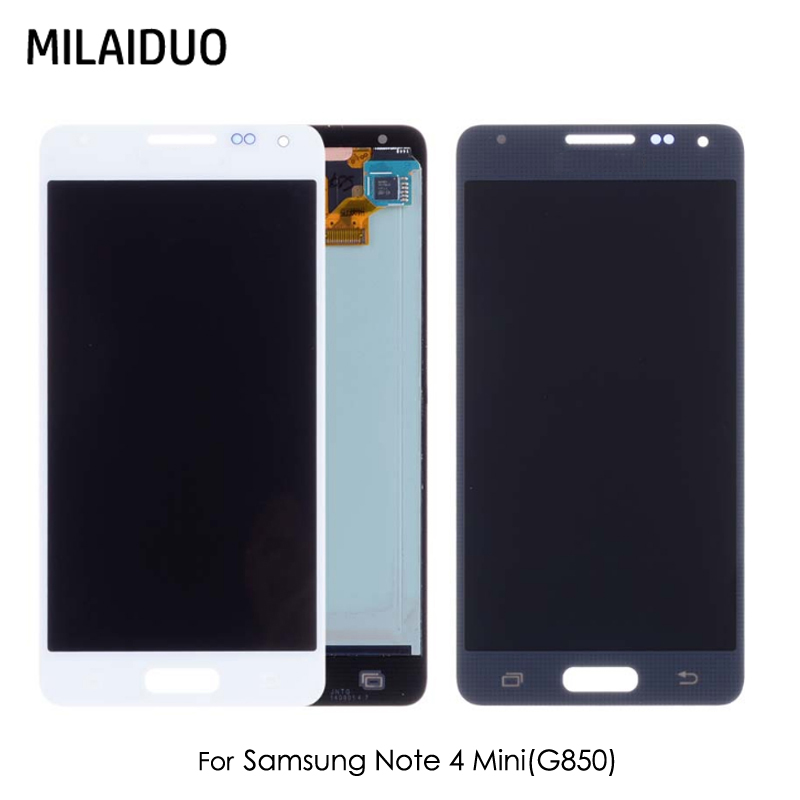 AMOLED For Samsung Alpha Note 4 MINI G850 G850F SM-G850 LCD Display Touch Screen Digitizer Assembly Replacement Parts 4.7
