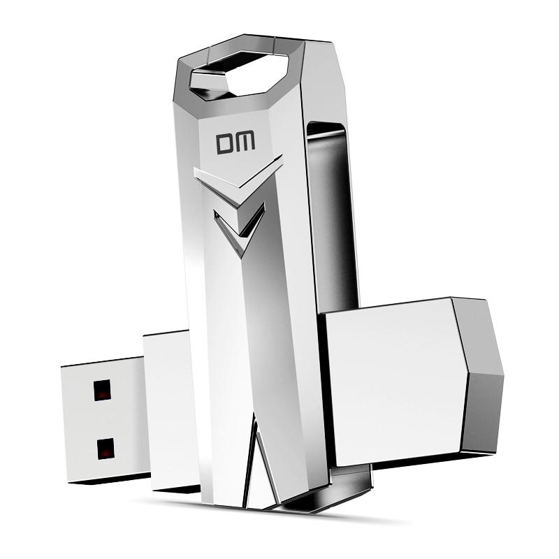 DM PD096 USB Flash Drive  32GB Metal Waterproof Pendrive 64GB Pen Drive Usb Stick 3.0 High-speed Write From 10mb/s-60mb/s