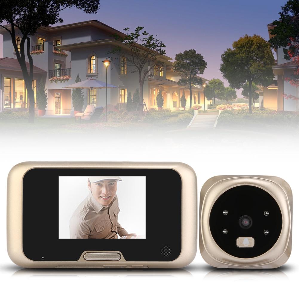 ФОТО 3.2 inch LCD Peephole Viewer Door Eye Doorbell Color HD Digital Camera 4 IR LED W/ Night Version 32ring tones Choosen Best Price