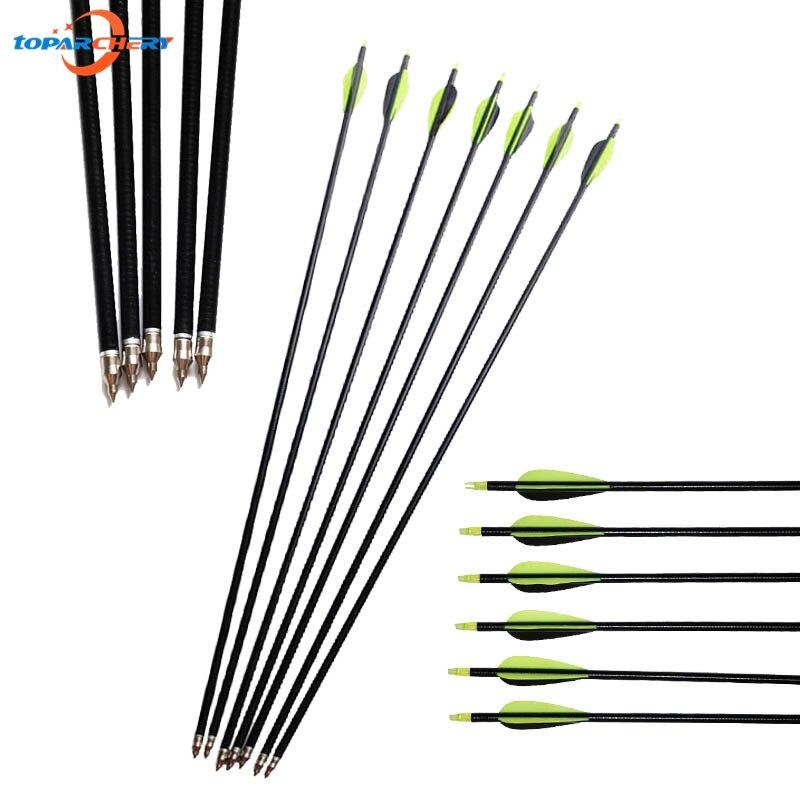 12 Fibreglass Arrows Field Tip Archery Fletched Fiberglass Nock Practice Target