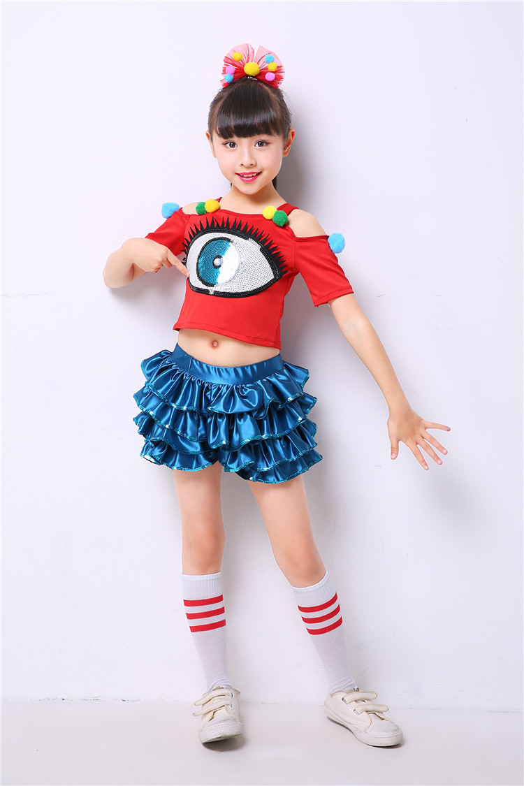 modern Hip hop jazz dance costumes for girls clothes contemporary dance  wear kids cheerleader costume dance dress for girls on Aliexpress.com  b40f0413f71