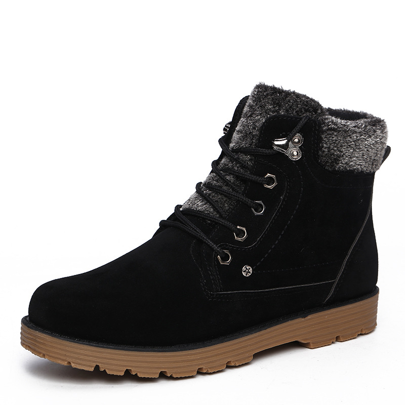 FABRECANDY Hot Newest Keep Warm font b Men b font Winter Boots High Quality Leather Wear