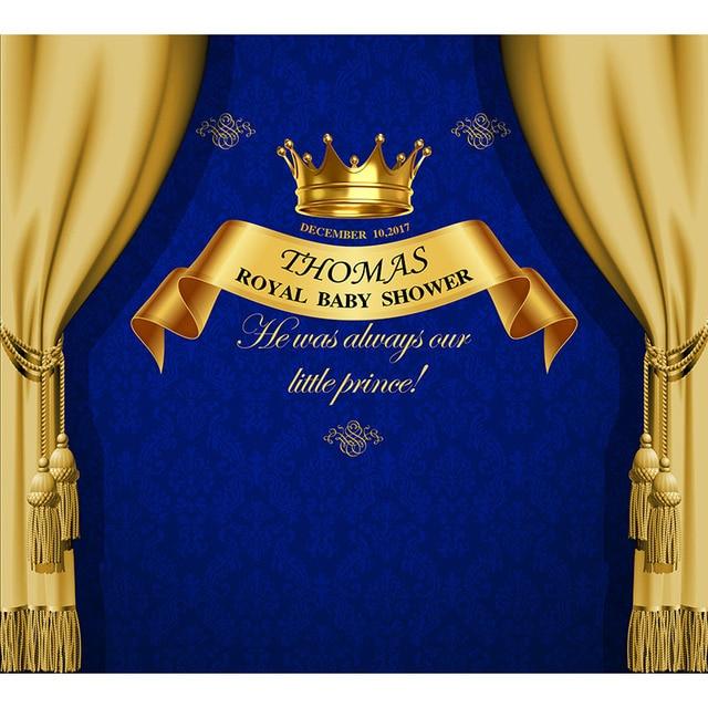 Custom Vinyl Photography Background Royal Gold Crown
