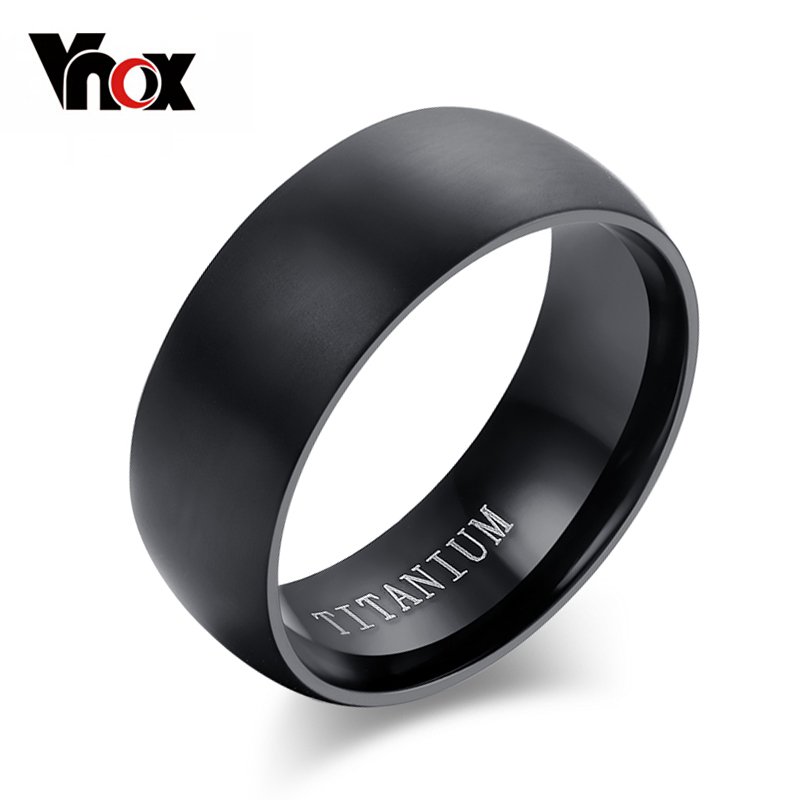 100 titanium rings for men 8mm cool black men ring jewelry wedding engagement male - Black Wedding Rings For Men
