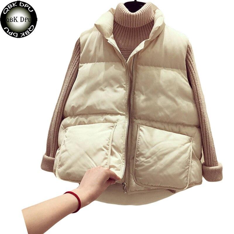 Mulheres Inverno Colete Coletes À Prova de Colete 2019 Nova Outono Colete Feminino Casual Quente casaco feminino inverno Jaqueta Casaco Sem Mangas das Mulheres