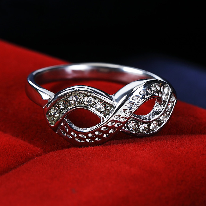 Vintage Infinity Stainless Steel Ring
