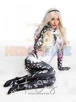 Spider Gwen Costume Jamie Venom Gwen V2 Spierman Costumes Superhero Cosplay Suit For Adult/Kids/Custom Made