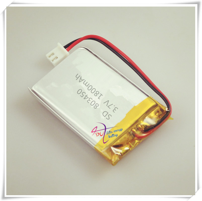 XHR-2P 2.54 1800 MaH 803450 3.7V polymer battery telephone 853448 803550 small pudding xhr 2p 2 54 800mah 802035 point reading pen bluetooth speaker school paper 3 7v polymer battery 702035