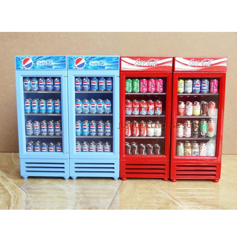 1 12 miniature dollhouse toy refrigerator without drinks - Accesorios para supermercados ...