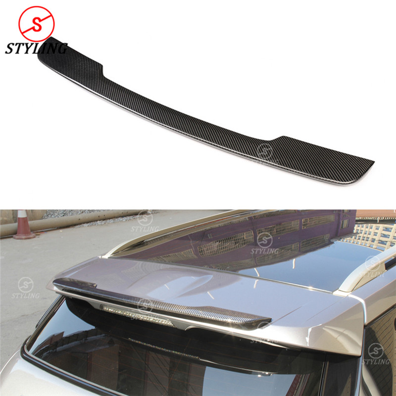 For Land Rover Range Rover Evoque carbon Rear Roof Spoiler Rear Bumper Trunk Wing Styling for Evoque Spoiler 2012 2013 2014 2015 silver front bumper hood center grille for land rover range rover vogue 2014 2015 2016