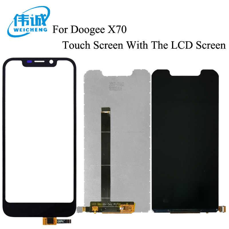 WEICHENG Doogee X70 lcd ekran + Dokunmatik Ekran Test Sayısallaştırıcı Cam Panel Değiştirme + Ücretsiz Araçlar