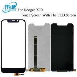 WEICHENG dla Doogee X70 wyświetlacz LCD + ekran dotykowy testowane szkło digitizer wymiana panelu + darmowe narzędzia