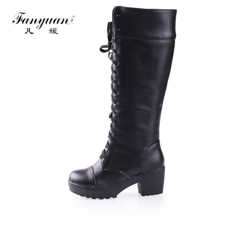 aliexpress buy 2017 winter knee high square heel